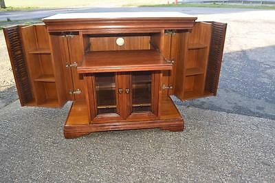 French Cherrywood Stereo Cd Cabinet Louis Phillippe