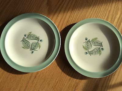 Lot Of 2 Vintage 1957 Woodbury Fruit Plates By Wedgwood, England
