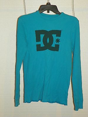 DC Comics Baby Blue Long Sleeve Ribbed T-Shirt Men's Size Large