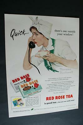 1960 Norman Rockwell Ad Red Rose Tea Canadian Song Birds
