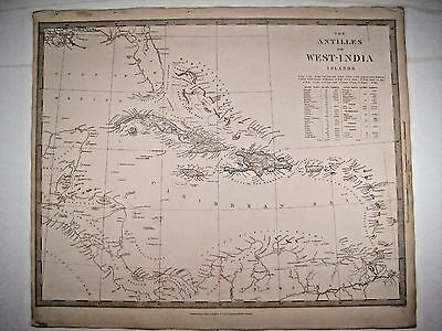 1835 SDUK: Map of the West Indies and Caribbean