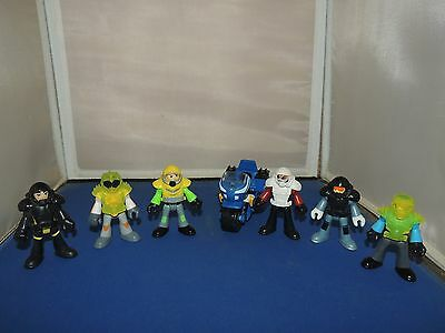 Imaginext Figure lot of 6 Assorted Characters, motorcycle & more!