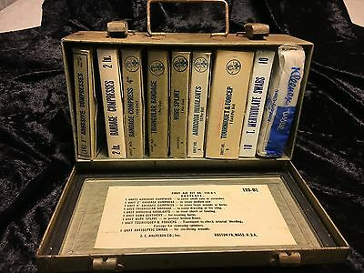 Vintage First Aid Kit in Metal Box, Contents in Original Boxes