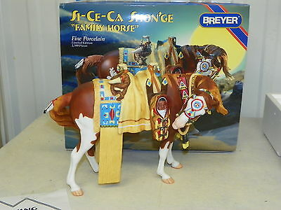 BREYER #79198 Si-Ce-Ca Shon'Ge Porcelain Family Horse Indian Pony In Costume