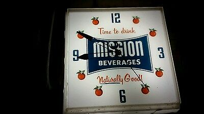 Mission Beverages Clock And Light - And It Works- Time To Drink