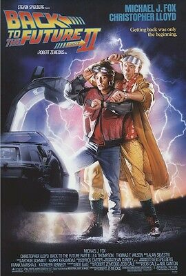 "Back To The Future 2 Poster ""brand New"" Licensed ""michael J Fox, Drew Struzan"""