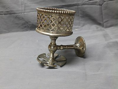 Antique Nickel Brass Beaded Cup Toothbrush Holder Vtg Silvers Fixture 2196-16
