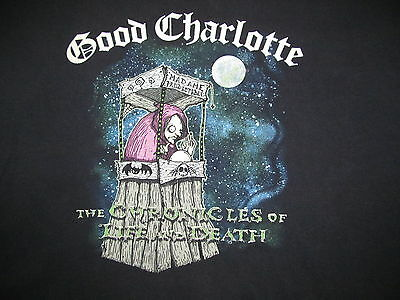 GOOD CHARLOTTE THE CHRONICLES OF LIFE AND DEATH Tour 2004 RARE T shirt Men's XL