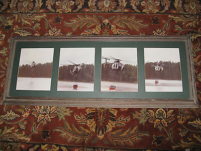 Estate Salvage Helicopter Photo Shot Picture Frame 6-20-91 Kyle Parker Ray Jones