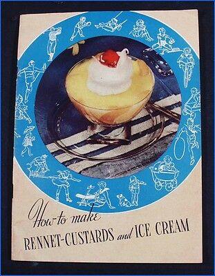 Vintage 1938 How To Make Rennet-Custards & Ice Cream Recipe Booklet