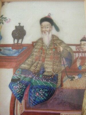 Antique Chinese Painting On Silk / Framed and Matted