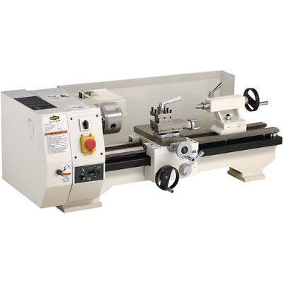 "Shop Fox M1016 10"" X 20"" 3/4 Hp Metal Lathe with  5"" 3-Jaw Chuck & Eye Shield"
