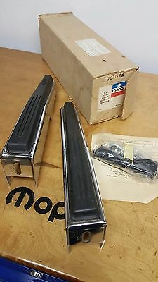 1972-1977 Dodge Truck Pickup Ramcharger Mopar Accessory Front Bumper Guards NOS