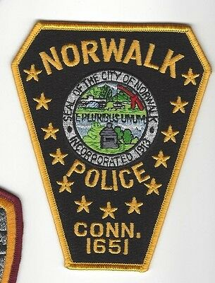 Norwalk CT Connecticut Police Dept. LEO patch - NEW!