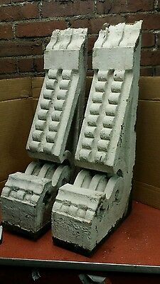 """Two 19th Century Corbels 23 1/2"""" x 10 1/2"""" x 5"""" Gingerbread Shabby Chic"""