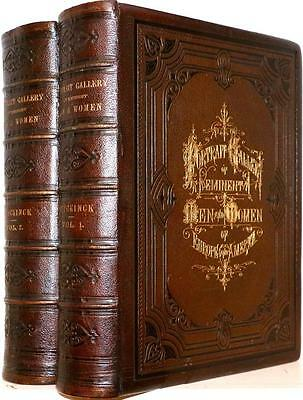 1872 1stED PORTRAIT GALLERY OF EMINENT MEN AND WOMEN OF EUROPE AND AMERICA