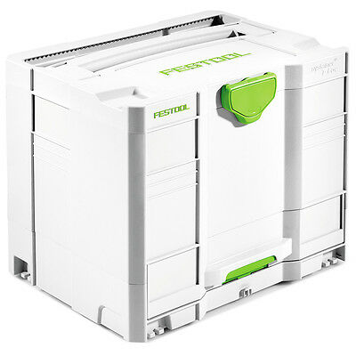 Festool 200118 Heavy Duty Flexibly Compact Plastic Systainer SYS-Combi 3 T-LOC