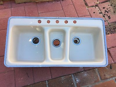 Three Basin Cast Iron Sink