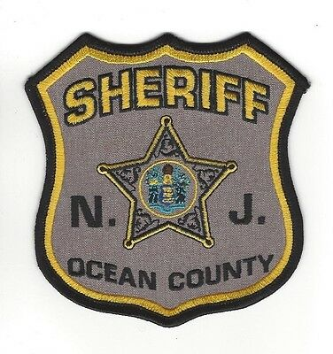 Ocean County NJ New Jersey Sheriff patch - NEW! *CLOTH BACK*