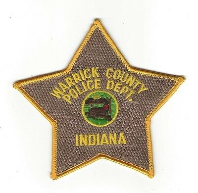 Warrick County IN Indiana POLICE DEPT. patch - NEW!
