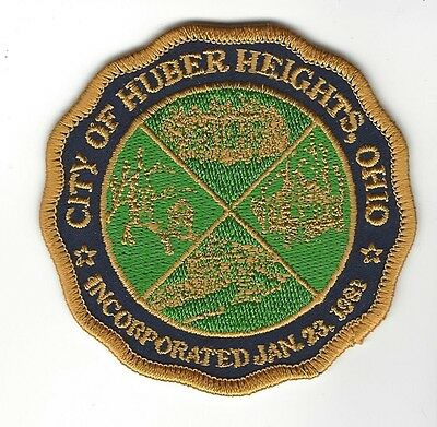 """City of Huber Heights OH Ohio embroidered 3"""" tall patch - NEW!"""