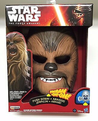 Star Wars The Force Awakens Chewbacca Electronic Mask. BRAND NEW