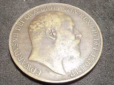 1910 Great Britain large penny - -sh Canada is 1.50