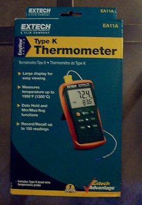 Extech Type K Thermometer EA11A easy view series new free shipping