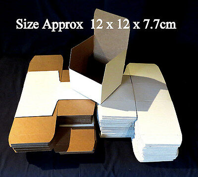 80 x Small White Mail, Packaging, Gift  Boxes 120x120x77mm, NEW