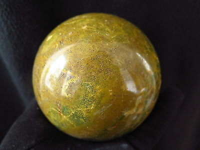 1436g Natural Rare Green plants Agate Geode CRYSTAL SPHERE BALL Healing @c54