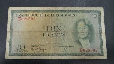Luxembourg 10 Franc banknote #E625802