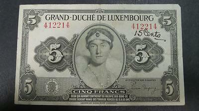 Luxembourg 5 Franc banknote #412214