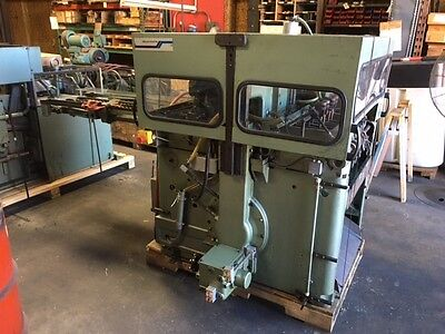 Muller Martini 6 pocket stitcher 335 with cover feeder stacker