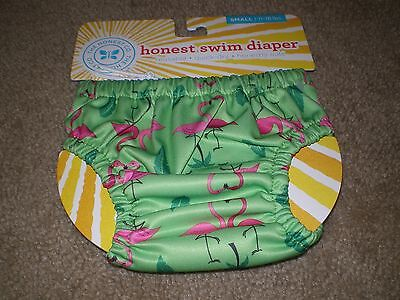 The Honest Company Reusable Quick Dry Swim Diaper - Flamingoes Small 11-18 lbs