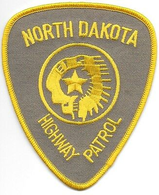 "*NEW*  North Dakota Highway Patrol (3.75"" x 4.5"") shoulder police patch (fire)"