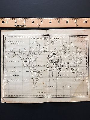 Rare World Map Planisphere Circa 1790. Original Condition Australia America Asia