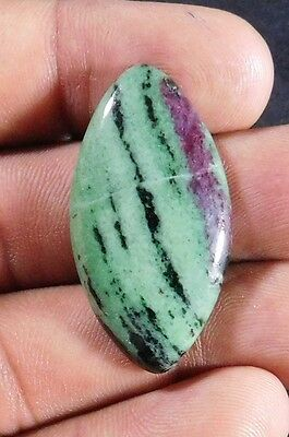 33.2Cts  Magnificent A+ 100% Natural Ruby Zoisite  36X19 Cabochon  Gemstone
