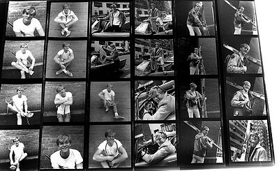 1967 Sexy Hunk STEVE DEMING 24 Original Black & White Negatives by Williams