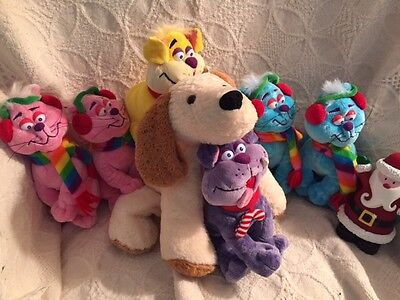 Stuffed Animals - 7 Plush Cats and Dogs seven