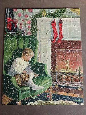 Vintage Perfect Picture 1948 Jigsaw Puzzle--Christmas Eve--375+ pieces