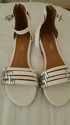Rivers white sandals as new size 38 or AUS 8