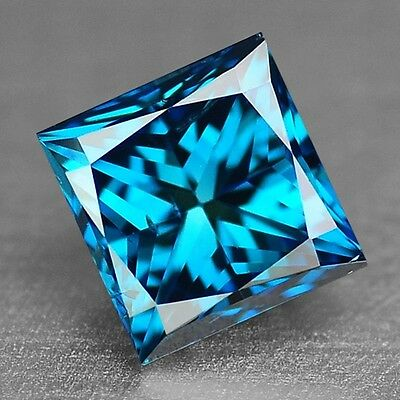 FIERY 0.77 Cts PRINCESS SPARKLING FANCY TITANIC BEST BLUE NATURAL LOOSE DIAMONDS