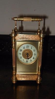 pretty french  brass cased carriage clock