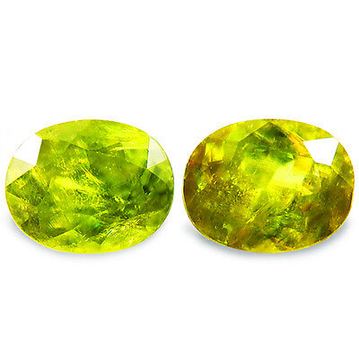 5.61ct DAZZLING NATURAL EARTH MINED GENUNE AAA MULTI COLOR GREEN SPHENE RF VIDEO
