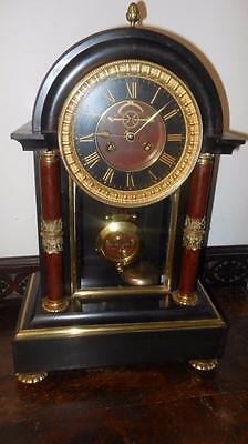 good  example of french marble and brass clock c1880s