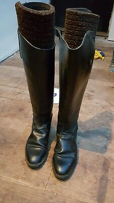 ladies leather riding boots size 6