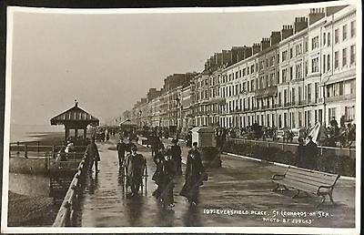 Old British Postcard- Eversfield Place, St Leonards on Sea