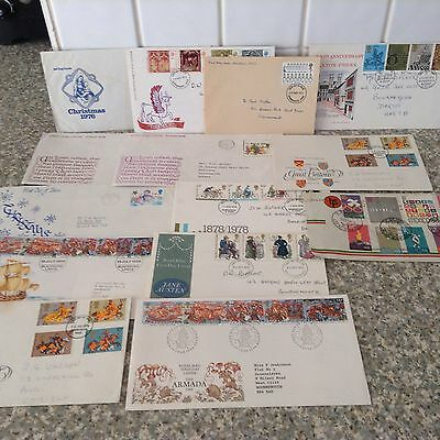 Collection Of Fourteen COMMEMORATIVE FIRST DAY COVERS