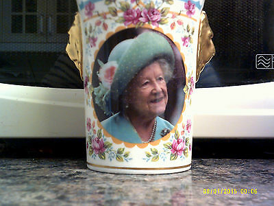 COMMEM LION HEAD BEAKER–SUTHERLAND Queen Mother 100th Birthday 841/950