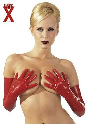 LATE X Latex Handschuhe rot Gr. S |21